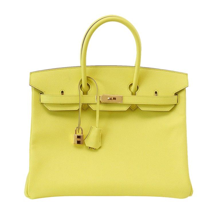 HERMES BIRKIN 35 Bag SOUFFRE epsom leather Gold hardware 1