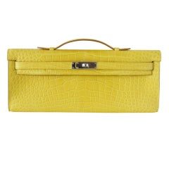 HERMES Kelly Cut Matte Mimosa Drop of summer Sun NEW