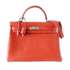 HERMES Kelly rare 40 Supple Matte Sanguine Palladium