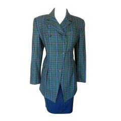 BARBARA BUI Vintage suit wool 4 / 6 Hounds tooth jacket