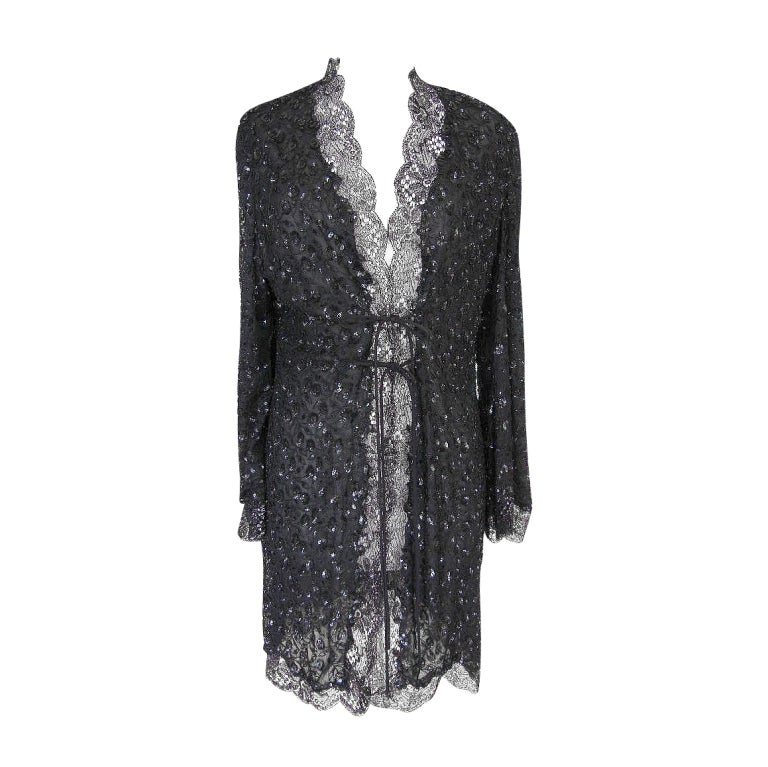 ELIE SAAB Jacket Coat Gorgeous Lace Sequined 6 / 8 New