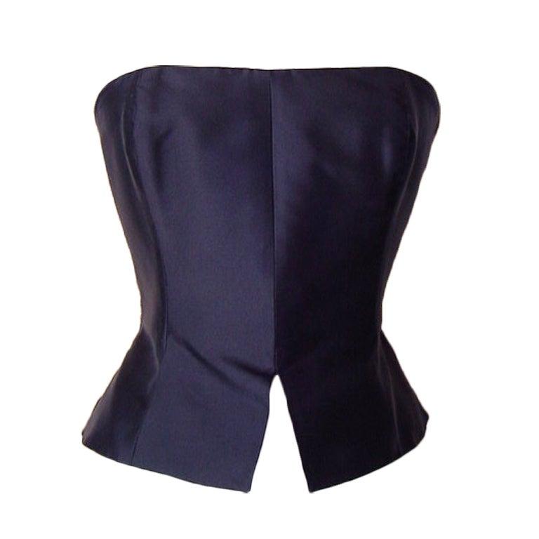 CHRISTIAN LACROIX  Bustier black silk  8 /10 Sleek Chic 1