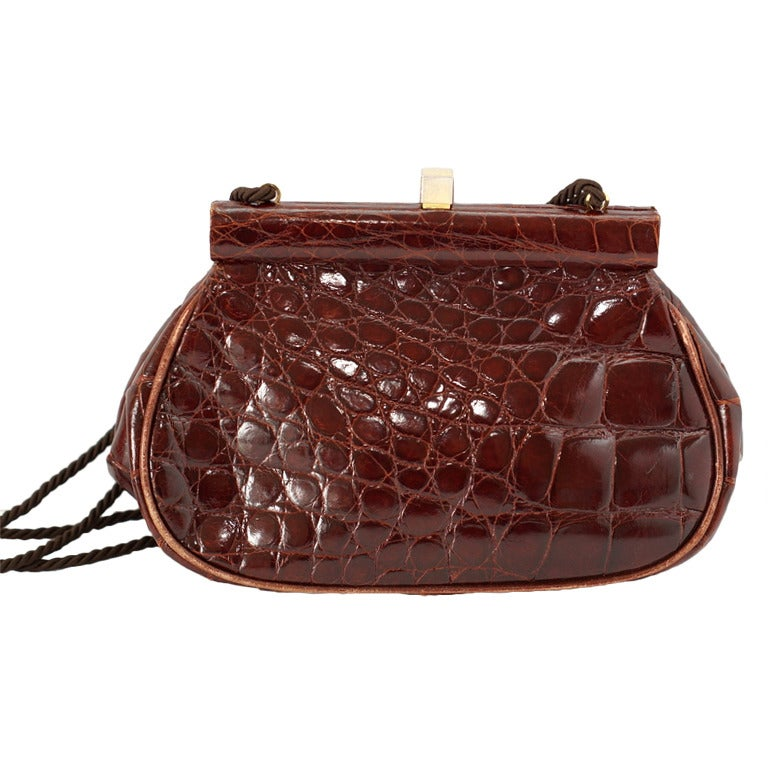 prada crocodile clutch bag