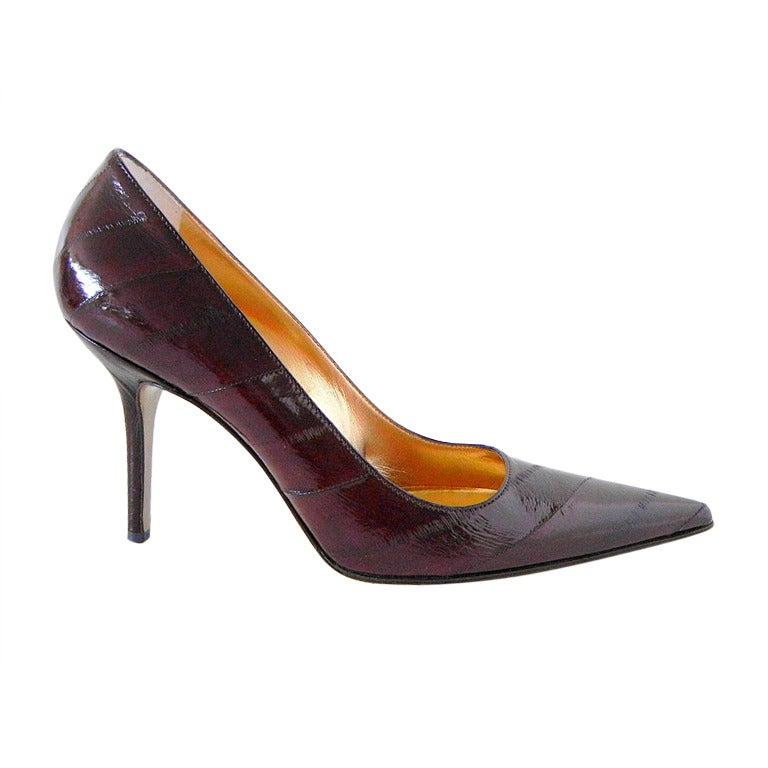 DOLCE&GABBANA shoe Signature pump EEL 40  /  10
