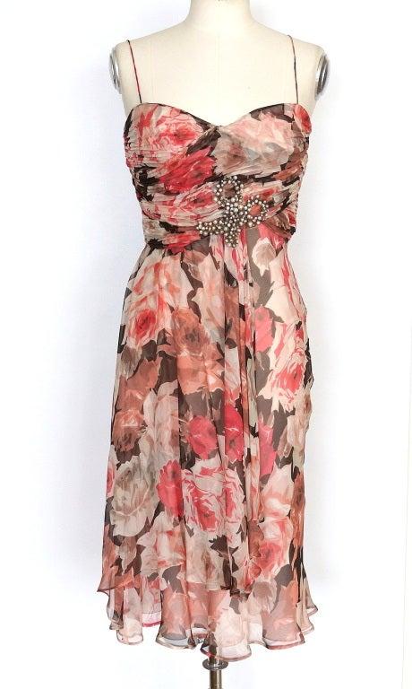 BLUMARINE Dress Striking Beaded Bow 42 / 8 New 2