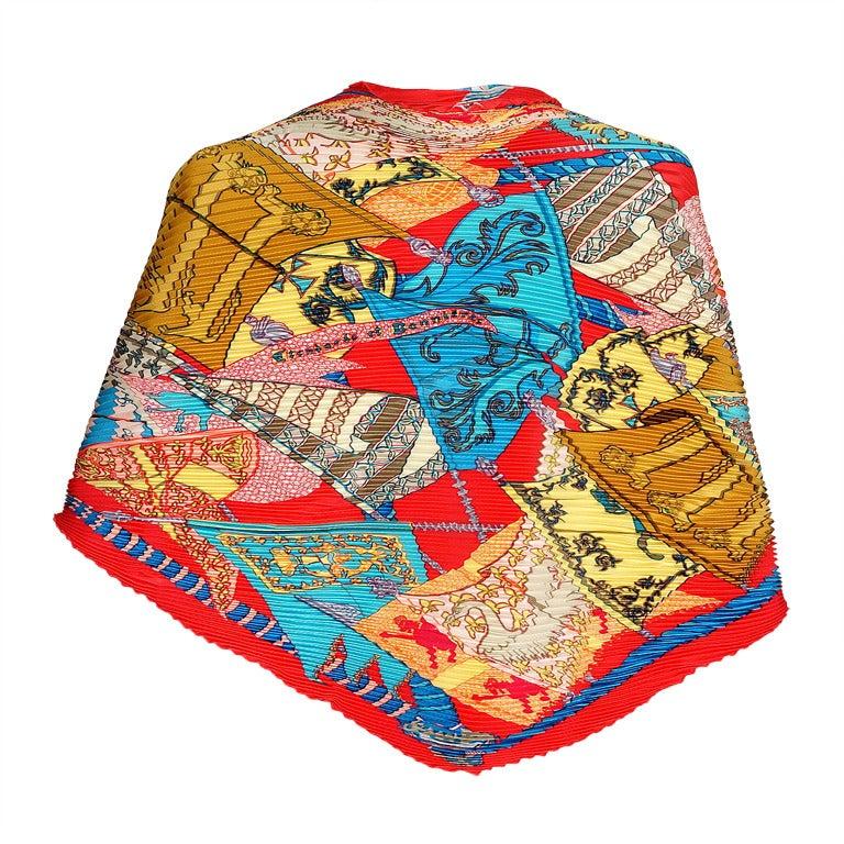hermes silk plisse scarf etendards et bannieres mint