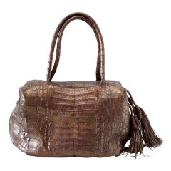 Nancy Gonzalez Bag Bronzed Brown Crocodile