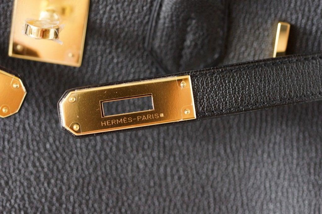 fake hermes birkin bags - HERMES BIRKIN 30 Bag BLACK Chevre Gold hardware at 1stdibs