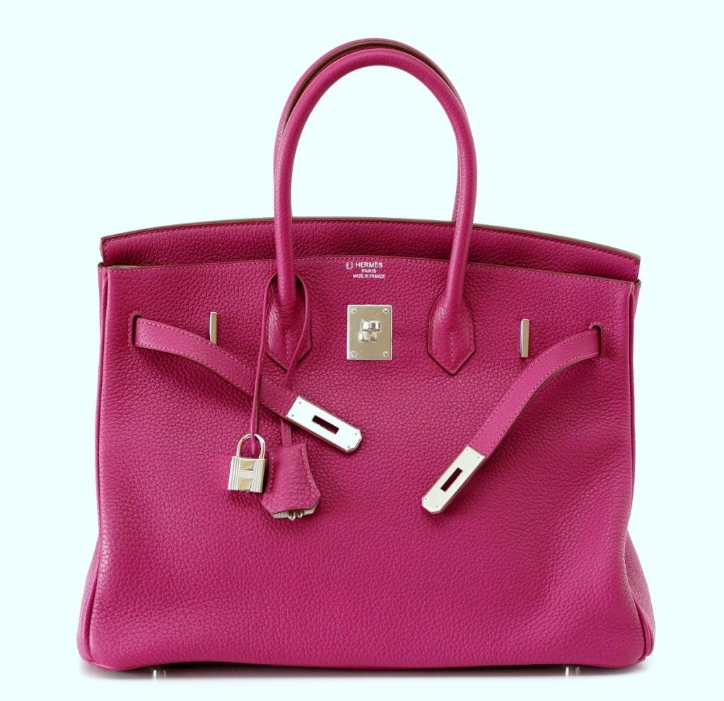 HERMES BIRKIN 35 bag rare Tosca Gris Perle Special Order NEW 2