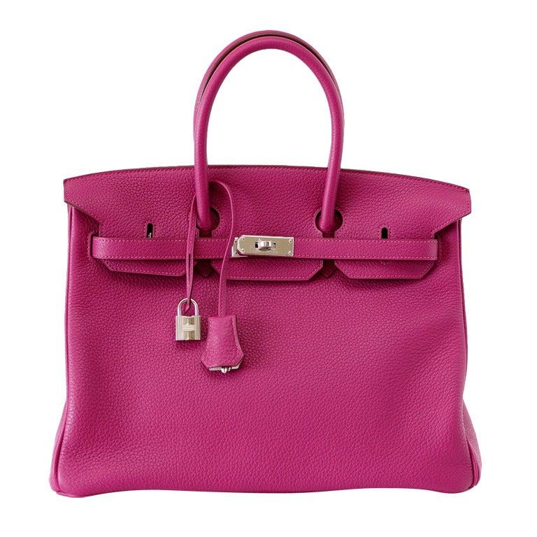 HERMES BIRKIN 35 bag rare Tosca Gris Perle Special Order NEW 1