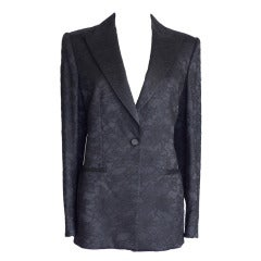 GIORGIO ARMANI Jacket LACE Tuxedo Style fits 8 / 10 NEW Exquisite Timeless