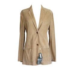 Loro Piana Soft Supple Perforated Lamb Suede Jacket