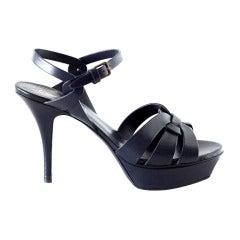 YVES SAINT LAURENT YSL dark navy Tribute shoe 39 9