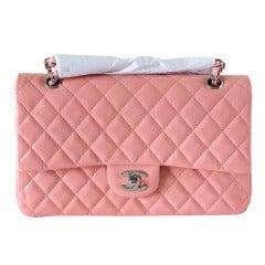 Chanel Bag Medium Classic Flap Pink Patent Cruise 2013