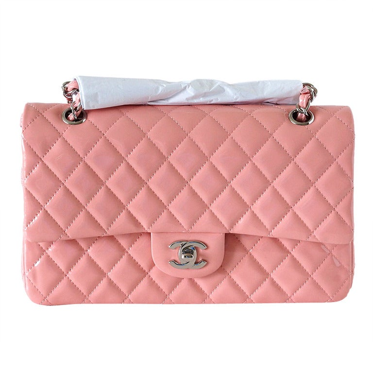 5e706611896f Chanel Bag Medium Classic Flap Pink Patent Cruise 2013 at 1stdibs