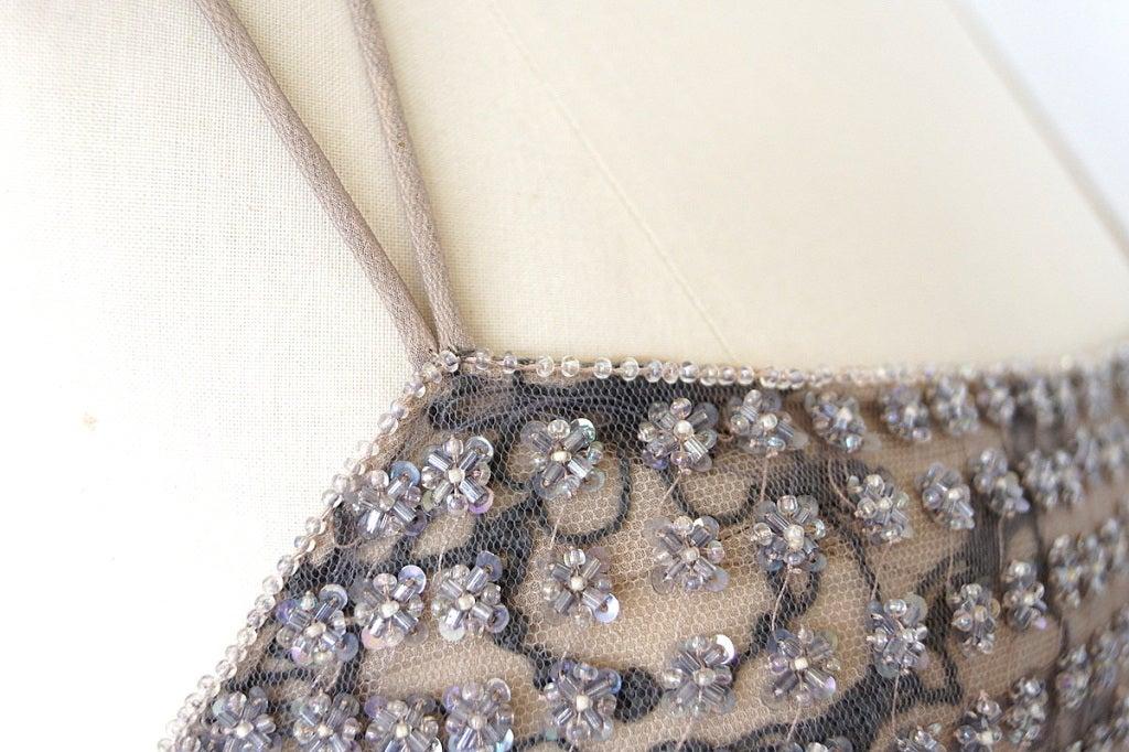Giorgio Armani Black Label Vintage Beaded Gown  New 40 / 6 In New Condition For Sale In Miami, FL