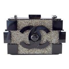 CHANEL bag BOY BRICK beaded black plexi glass RUNWAY Limited Edition NWT