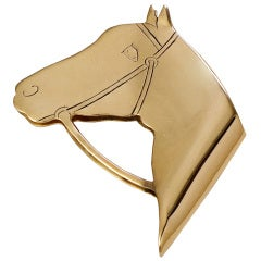 Cartier Gold Horse Money Clip