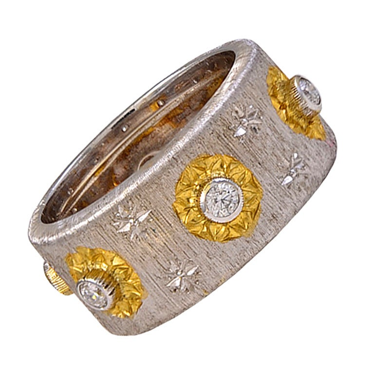 Mario Buccellati Diamond Gold Ring 1