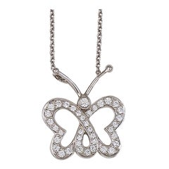 Tiffany&Co Diamond Butterfly Necklace