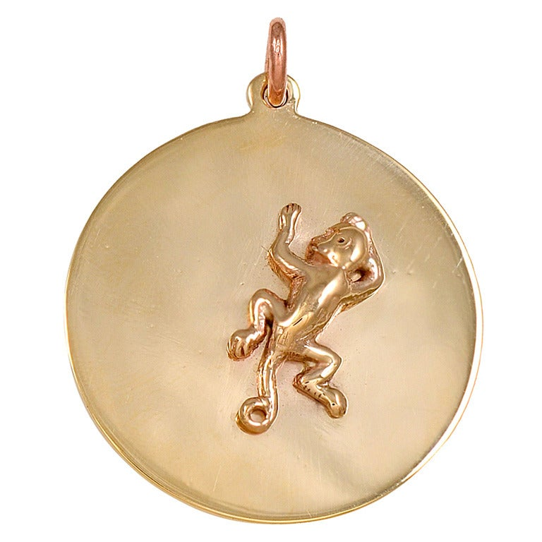tiffany and co monkey charm pendant for sale at 1stdibs