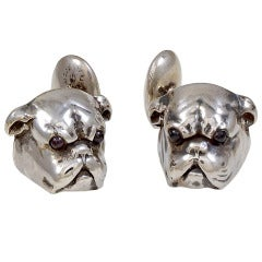 Antique Bull Dog Cufflinks