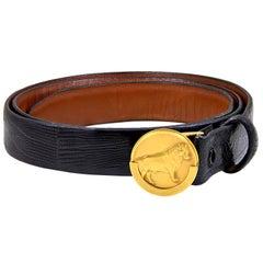 Bull belt buckle in gold