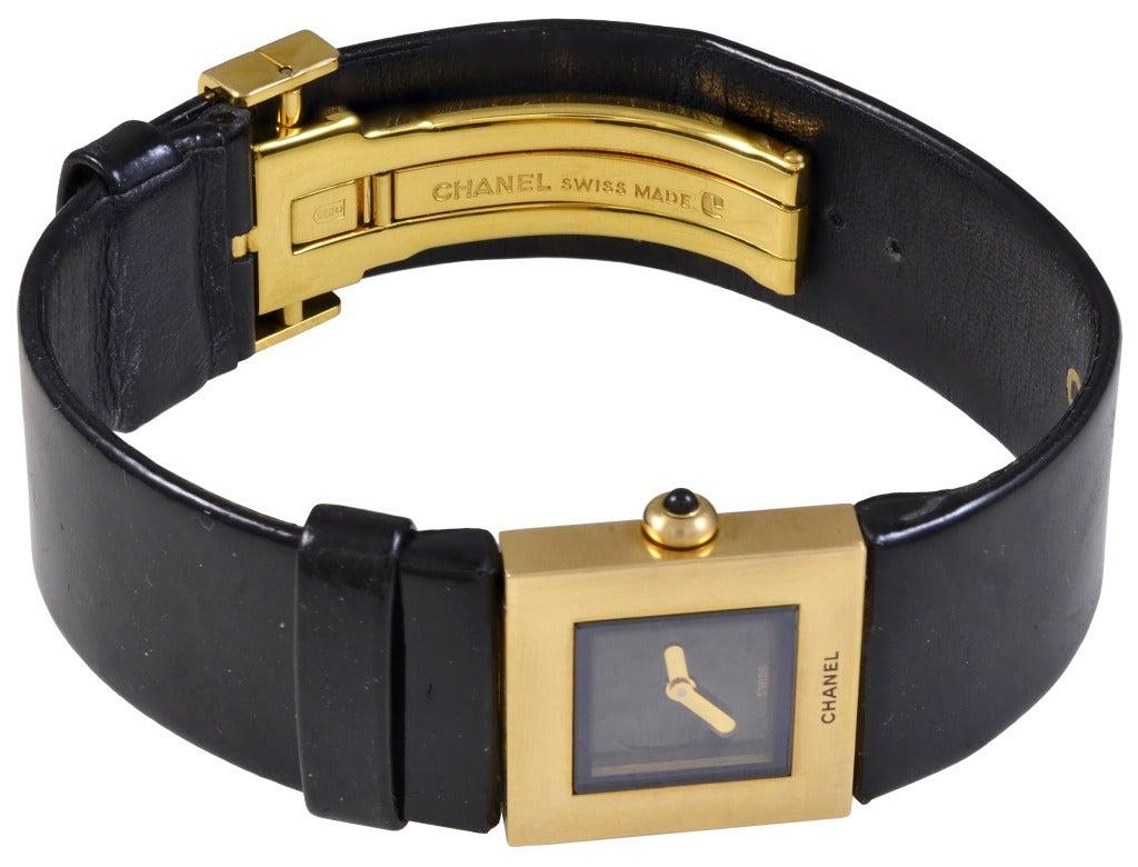Chanel Lady's Yellow Gold Matelasse Wristwatch 2