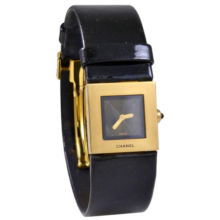 Chanel Lady's Yellow Gold Matelasse Wristwatch 1