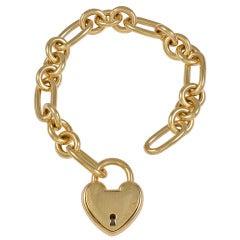 TIFFANY&CO Large Heavy Heart Charm Bracelet