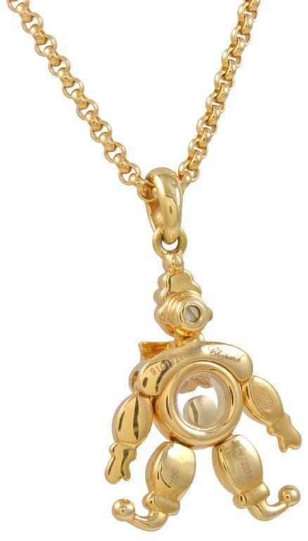 Original 18K gold Chopard diamond clown necklace with