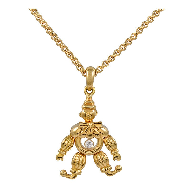 CHOPARD Happy Diamond Clown Necklace For Sale