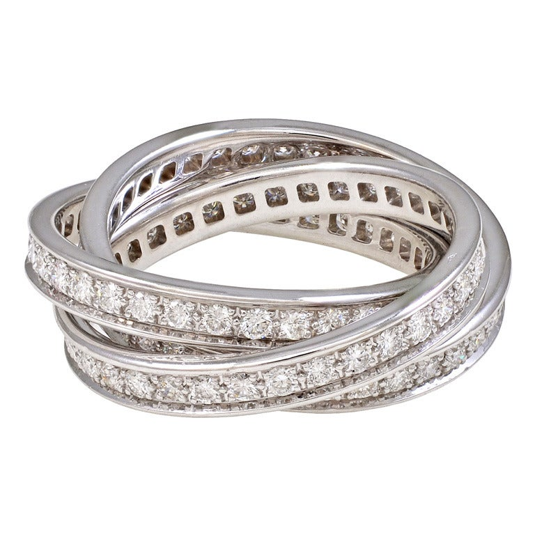Cartier Quot Trinity Quot Diamond Ring At 1stdibs