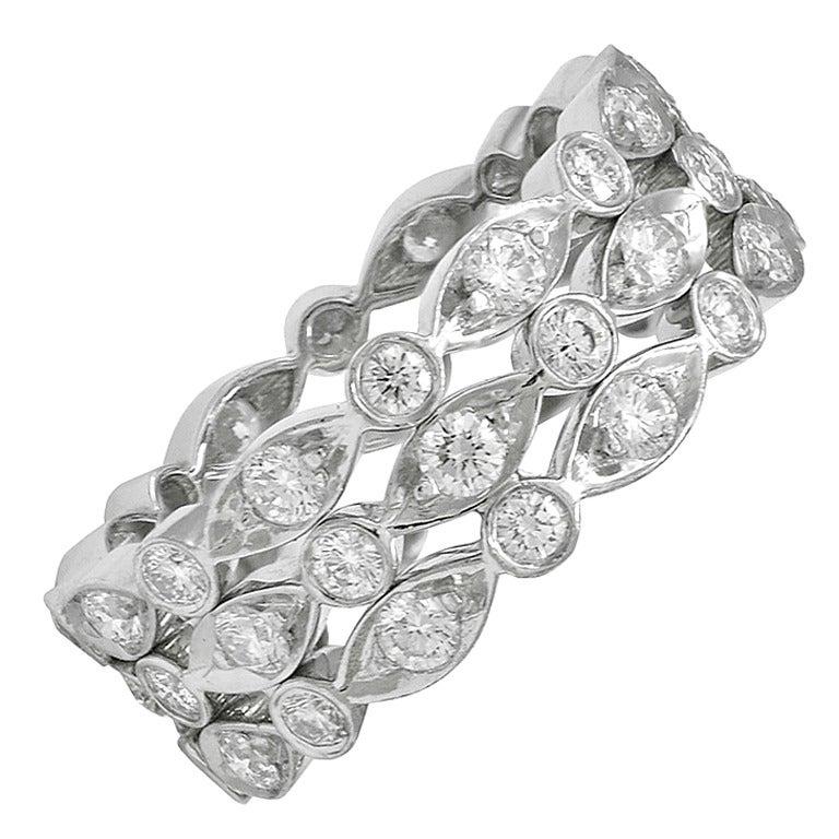 "TIFFANY & CO Diamond ""Swing "" Ring"