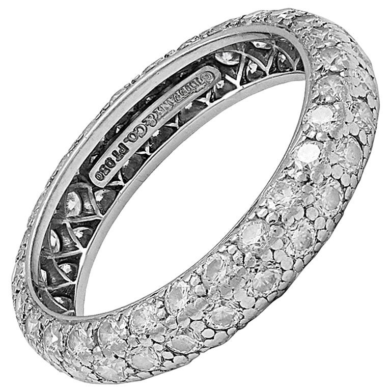 Tiffany And Co Etoile Diamond Platinum Ring For Sale At