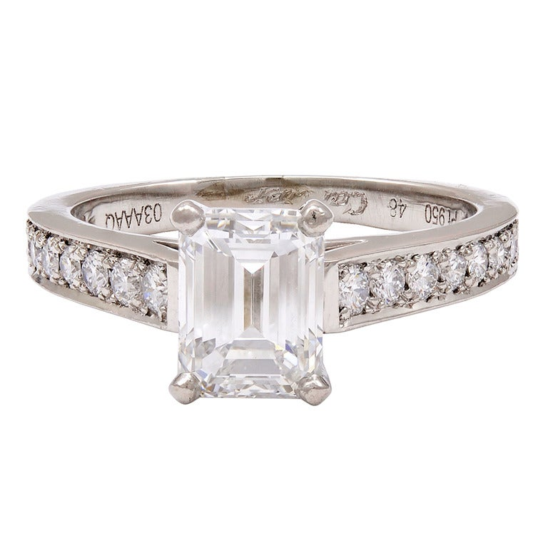 Cartier Diamond 1895 Pave Collection Engagement Ring at 1stdibs