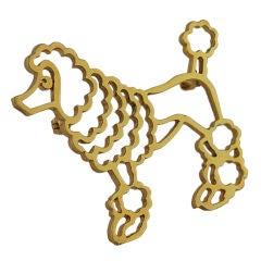 Tiffany 14K Poodle Pin