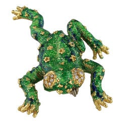 Prince of a Frog Brooch