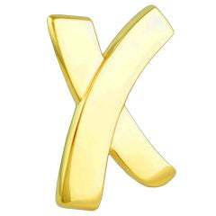 Tiffany & Co. Paloma Picasso Large Gold Signature X Pin