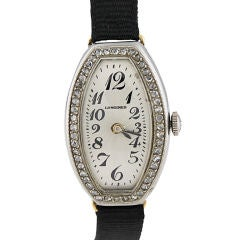 Longines 18K , Platinium, and Diamond Watch
