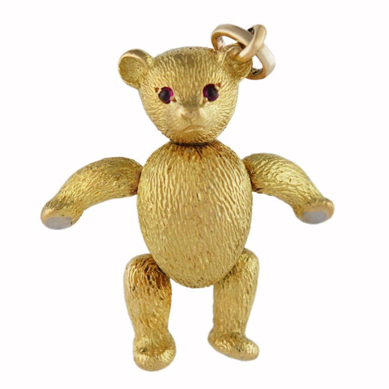 TIFFANY & CO Gold Teddy Bear Charm/Pendant