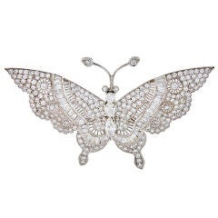 Diamond Tremblant Butterfly Brooch