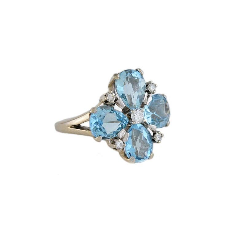 aquamarine and 14k white gold ring at 1stdibs