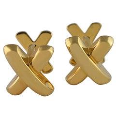 TIFFANY & CO Double-Sided X Cufflinks