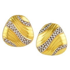 Tiffany & Co Dramatic and Large Gold and Diamond Earrings
