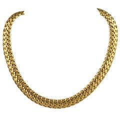 Tiffany Woven Gold Choker
