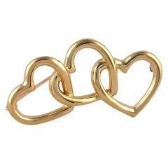 TIFFANY Triple Heart Brooch