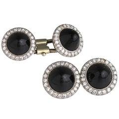 Antique Diamond and Onyx Cufflinks
