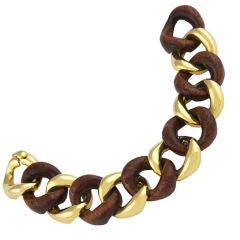 Seaman Schepps Gold and Walnut Bracelet