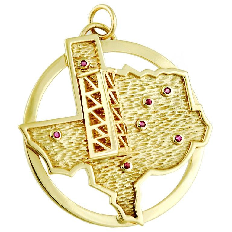 Texas Oil Well Pendant/ Charm